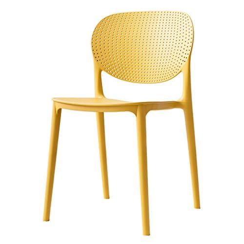 Lxn Simplicité Moderne Design Plastic Dining Chair, Home Armless Chairs, Salle à Manger, Cuisine, Chambre à Coucher, chaises de Salon - 1PCS