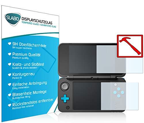 Slabo 2 x Premium Pellicola Protettiva in Vetro Temperato per Nintendo New 2DS XL Tempered Glass Crystal Clear 9H