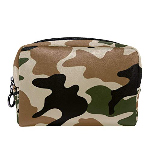 Cosmetic Bag Womens Makeup Bag for Travel to Carry Cosmetics Change Keys etc,Fashion Camouflage Pattern