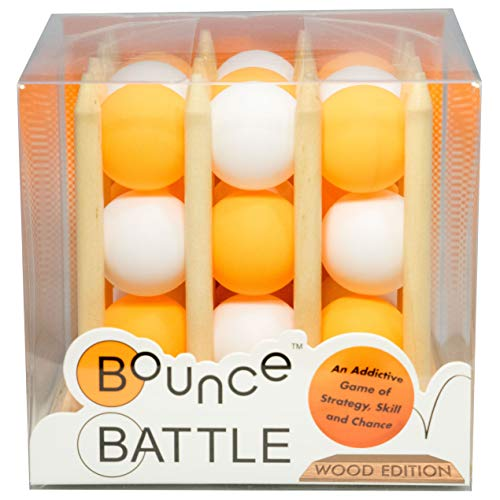 Bounce Battle Wood Edition Game Set - an Addictive Game of Strategy, Skill & Chance