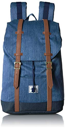 Herschel Unisex-Erwachsene Retreat Multipurpose Backpack, Denim/Indigo-Denim, Classic