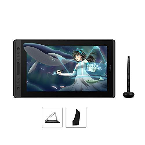 HUION Kamvas Pro 16 Tableta Gráfica con Pantalla, Monitor de Dibujo de 15,6 Pulgadas IPS 1920x1080 HD, 6 Teclas Express y 1 Barra Táctil, Uso Ideal para Educación a Distancia y Conferencias Web