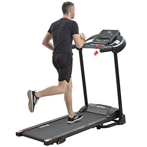 Merax Folding Treadmill Electric Treadmill Motorized Running Machine for Home use|MP3 & Dual Speakers|12 Pre-Programs|3 Level Manual Incline|0.8-12km/h|98% Assembled