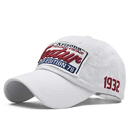 Herren Kappe Hut Baseball Caps Dad Frauen Snapback Cap Hüte Für Männer Mode Hochwertige Vintage Hut Brief Baumwolle Cap-White_Adjustable