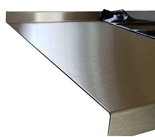 Edelstahl Abdeckplatte für Arbeitsplatte 15x40x600x50mm 0,8mm K240 Edelstahltisch Edelstahl Tischabdeckung CNS Abdeckung Edelstahl Arbeitstisch (1500 mm lang)
