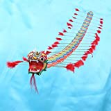 weichuang Kite Niños Chino Tradicional Dragón Cometa Chino Diseño Decoración Juegos de Volar Cometa Fordable Niños al aire libre Diversión Deportes Jugar Juguetes Grande cometa
