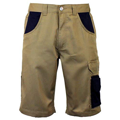 Powerfix - Pantalones cortos de trabajo para hombre caqui/azul marino. 36W