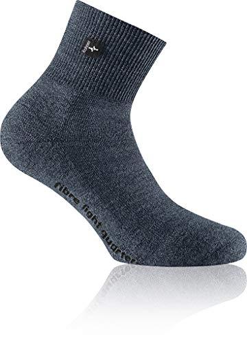 Rohner Fibre Light Quarter Blau, Merino Socken, Größe EU 39-41 - Farbe Blue Denim