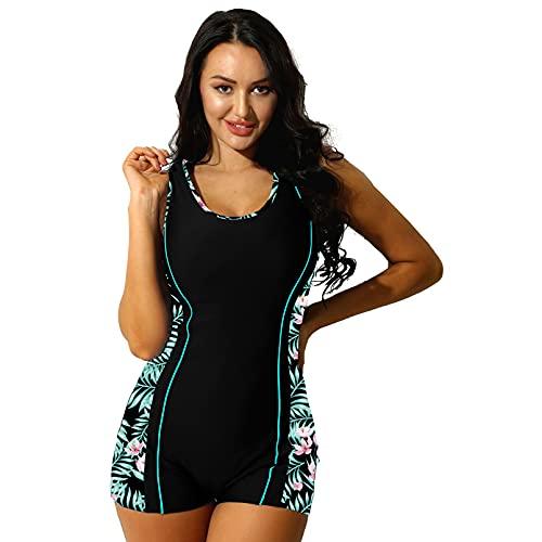 YONGHS Women Racerback One Piece Swimsuit Athletic Boyleg Swimwear...