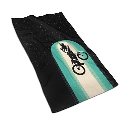 Toalla para niño con Bicicleta en el Espacio Toalla de Mano s Toalla de baño Toalla de baño Absorbente Suave Plato de Cocina Toalla para Invitados Decoraciones de baño para el hogar