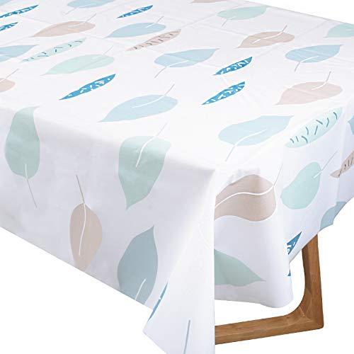 Mantel de Mesa Hojas Impermeable 137x180cm Cubierta de Mesa Plástico Reutilizable Rectangular para Mesa de Comedor Oficina Cenas Fiestas Navidad Bodas Bautizo Picnics Bufé Cumpleaños Barbacoas