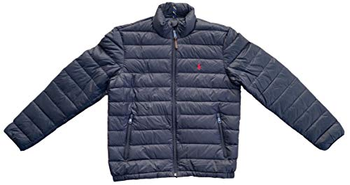 Polo Ralph Lauren Men's Lightweight Bleeker Down Jacket (Black, L)