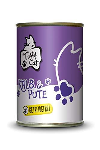 Tasty Cat Nassfutter für Katzen Kalb & Pute 400g. | getreidefrei | zuckerfrei