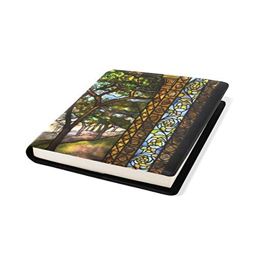 COOSUN Vitraux Book Cover Sox Stretchable Livre, La Plupart des Fits Relié jusqu'à 9 manuels x 11. adhésif Libre, école Cuir PU Livre Protector 9 x 11 Pouces Multicolore
