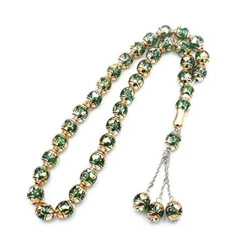Perlas de oración musulmana redondas, perlas de Tesbih Alá, rosario islámico, texto en tasby worship Supplies, collares para mujer, collares para adolescentes y niñas