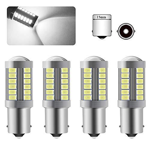 4 X 1156BA15S P21W Bombilla LED Blanco Super Brillante 900LM 5630 33 SMD Luz De Marcha Atrás luz de freno niebla traseras posición 12-30 V