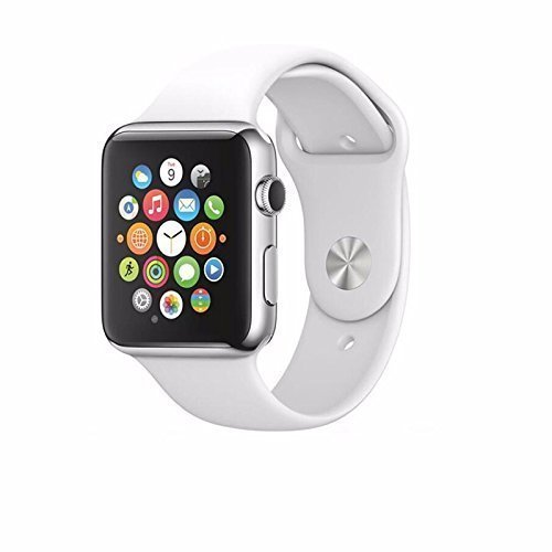 SYL A1 Bluetooth Smart Watch with Camera and Sim Card Support with Apps Like Facebook and Whatsapp for All 3G & 4G Android/iOS Smartphones - (White)