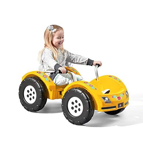 Step2 Zip N' Zoom Pedal Car | Kids Ride On Sports Car, Yellow (B07TXFLLKK)