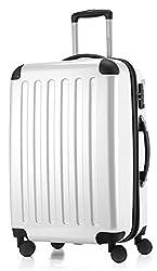 HAUPTSTADTKOFFER - Alex - 4 Doppel-Rollen Hartschalen-Koffer Koffer Trolley Rollkoffer Reisekoffer, TSA, 65 cm, 74 Liter, Weiß