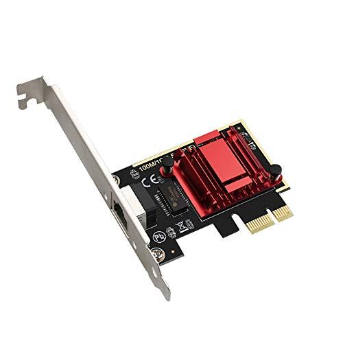 Timagebreze Tarjeta PCIE Tarjeta de Red Gigabit de 2,5 Gbps...