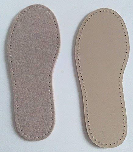 Stafil Suelas de fieltro para zapatillas de estar por casa, ganchillo, fieltro o tejer, talla 41