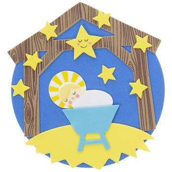 HAPPY DEALS ~ Kit de manualidades de Navidad para Belén – Kit de manualidades de espuma para niños – Hace 24, Niño Jesús, Variados
