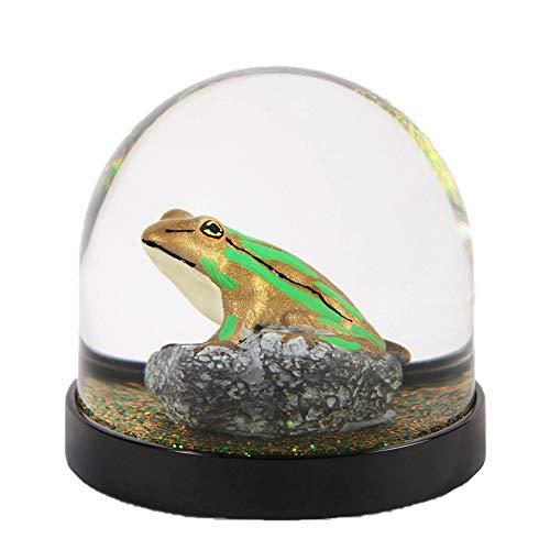 &Klevering Boule à neige amusante de qualité supérieure avec grenouille et paillettes multicolores - 8 x Ø 8,5 cm