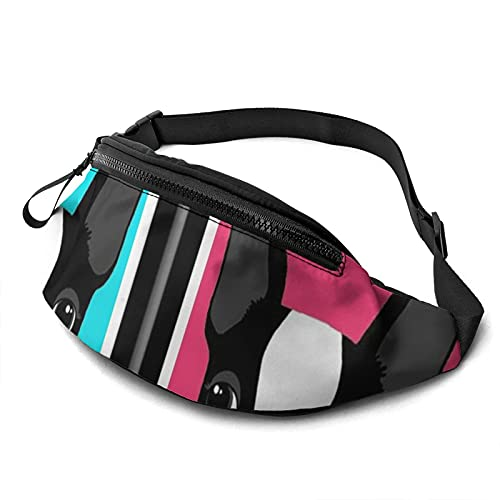 Belt Bag Colorful French Bulldog Printed Casual Waist Bag Fanny Pack For Outdoor Sports Fitness Hands Free Wallet Casual Sport Bum Bag