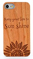 MKGCASE いつも陽の光に顔をむけてほしいから keep you face to sunshine〜いつも陽の光へ顔を向けて〜 natural cherrywood + PC polycarbonate 耐久性UP ウッドケース (iPhone 11)