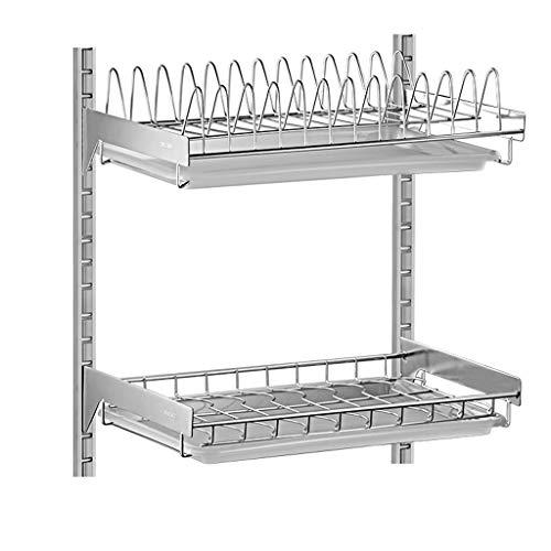 CWT-shelf Wand hängenden Punsch frei Geschirrkorb 304 Edelstahl-Ablaufregal Küche Hängeregal Abtropfgestell Lagerregal
