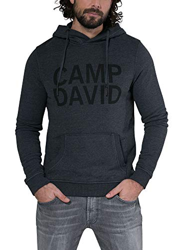Camp David Herren Hoodie mit Logo Print