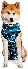 Suitical Recovery Suit Perro, XXL, Camuflaje Azul