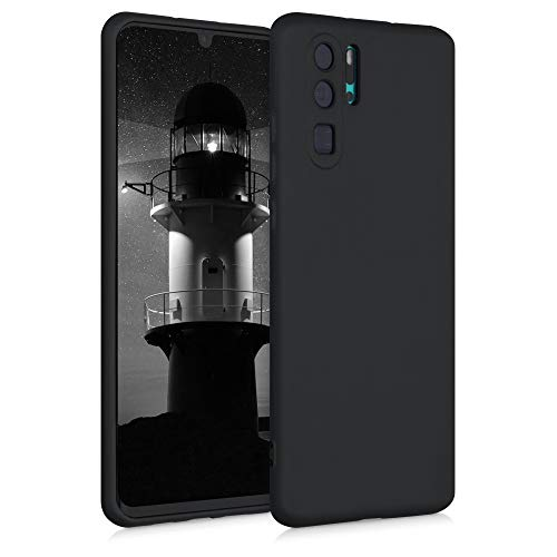 kwmobile Case Compatible with Huawei P30 Pro - Case Soft Rubberized TPU Slim Protective Phone Cover - Black Matte