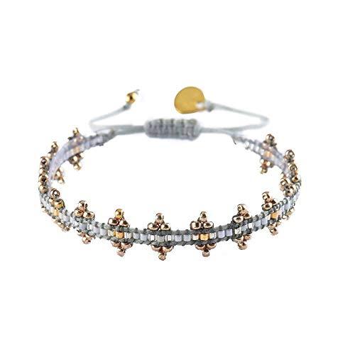 Mishky Beaded Bracelet with Adjustable Closure (Shanty Grey)