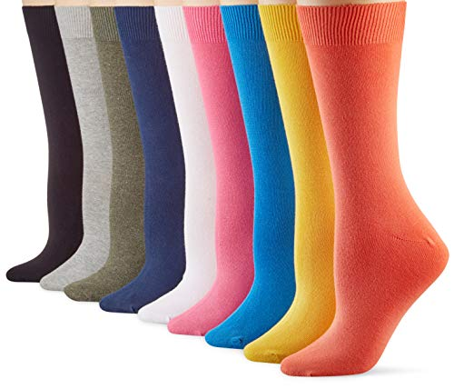 Camano Damen Socken (9er Pack), Orange, 35/38