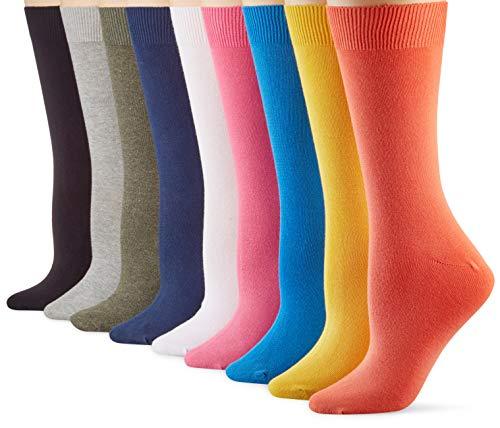 Camano Damen 9106 Socken, Orange (Ember Glow 2400), (Herstellergröße: 35/38) (9er Pack)