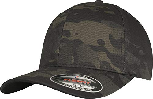 Flexfit Unisex Baseball Cap, Black Multicam, Small/Medium