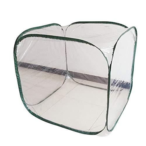 Gewächshaus Balkon Quadratische Form Zusammenklappbar Anti-Vogel Garten Kältebeständig Isolierung Winter PVC Überwinterungszelt, 2 Arten Gzhenh (Color : 3pcs, Size : A-98x98x98cm)