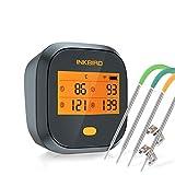 Inkbird IBBQ-4T Wi-Fi Termometro per Carne con 4 Sonde Termometro per Interno ed Esterno, Cucina, Forno, Barbecue, iOS Android