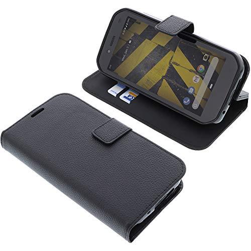 foto-kontor Tasche für CAT S42 Book Style schwarz Schutz Hülle Buch