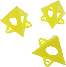 ALLSOME 10pcs Yellow Woodworking Painter's Pyramid Stands Paint Tool Triangle Paint Pads Feet HT1466