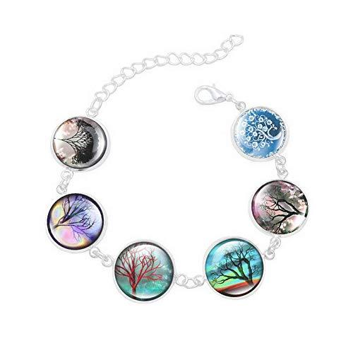 Sunshine Todas las clases de pulseras del árbol de la vida, adornos de cristal de la cúpula, regalos para ella