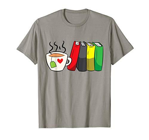 Bookworm Funny Tea And Book Reading T-Shirt