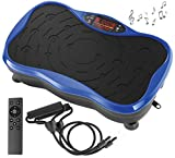 Belmint Vibration Plate Exercise Machine - Mini Fitness Board with 2 Resistance Bands - Home Training Equipment Platform for Full Body Workout - Lose Fat, Weight Loss, Improve Flexibility, Circulation