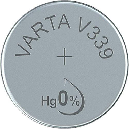 Varta 339101111 Watch V339 Uhrenbatterie (1er Blister, ideal für Armbanduhr und Taschenrechner) silber