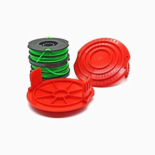 Garden NINJA 0.080' Dual-Line Replacement Trimmer Spool Compatible with DF-080, 2 Spools + 2 Caps