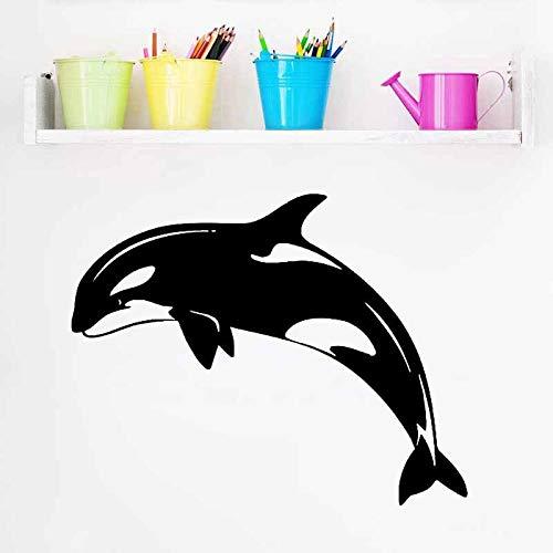 Bebé Niños Dormitorios Pegatinas de pared decorativas Ballena Animales marinos Arte de la pared Mural Etiqueta extraíble para el hogar Otro color 55x44cm