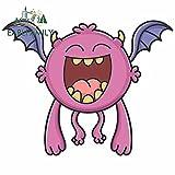 A/X 13 cm 10,9 cm para Happy Purple Flying Cartoon Bat Monster Vinilo Pegatina de Coche Accesorios de Coche calcomanías de decoración de Parachoques