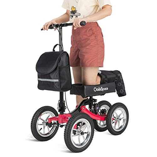 OasisSpace Shock Absorber All Terrain Knee Walker Scooter