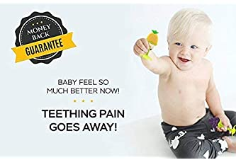 Baby Teething Toys (4 Pack), Olele Baby Chew Toys, BPA-Free Baby Teething Toy for Babies 6-12 Months. Natural Organic...
